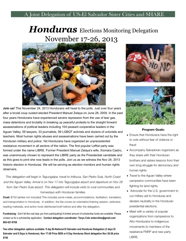Honduras elections delegation flyer-1