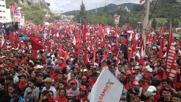 LIBRE takes to the streets after elections