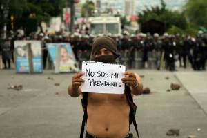 student protests after elections Honduras