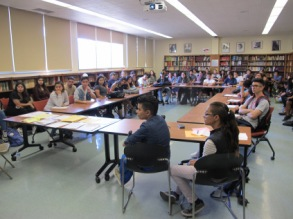 Gaby and Paola spoke with dozens of students with the Central American Studies department at California State University Northridge (CSUN).