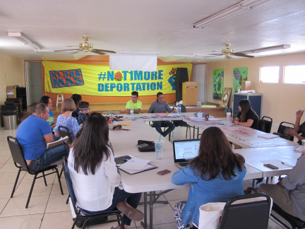 We debriefed with organizers from PUENTE, an immigrants rights organization in Phoenix, Arizona ahead of the SOAW convergence on the border in Nogales, Arizona/Mexico.